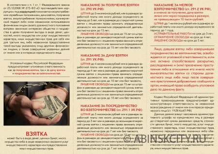 Памятка что нужно знать о коррупции